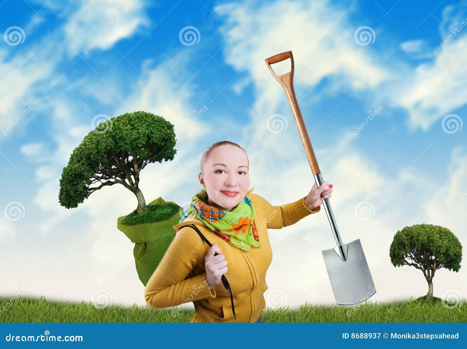 γυναίκα δέντρων φτυαριών