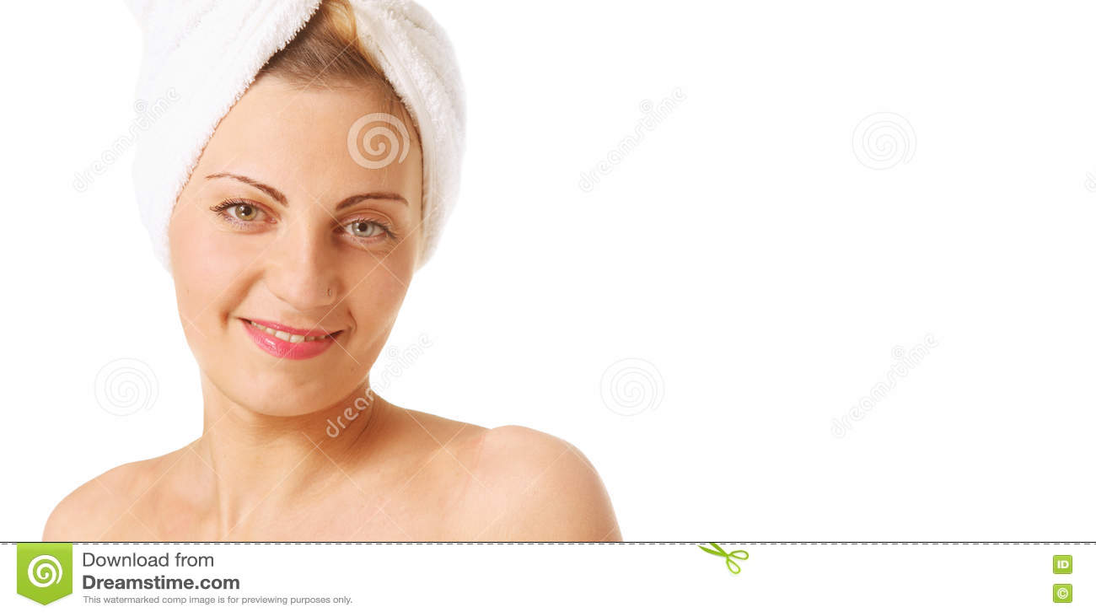 Γυναίκα με μια πετσέτα