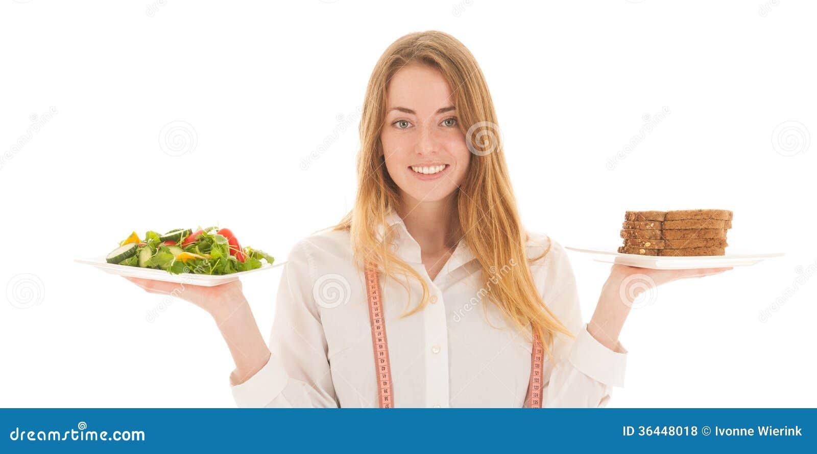 Γυναίκα με τη διατροφή