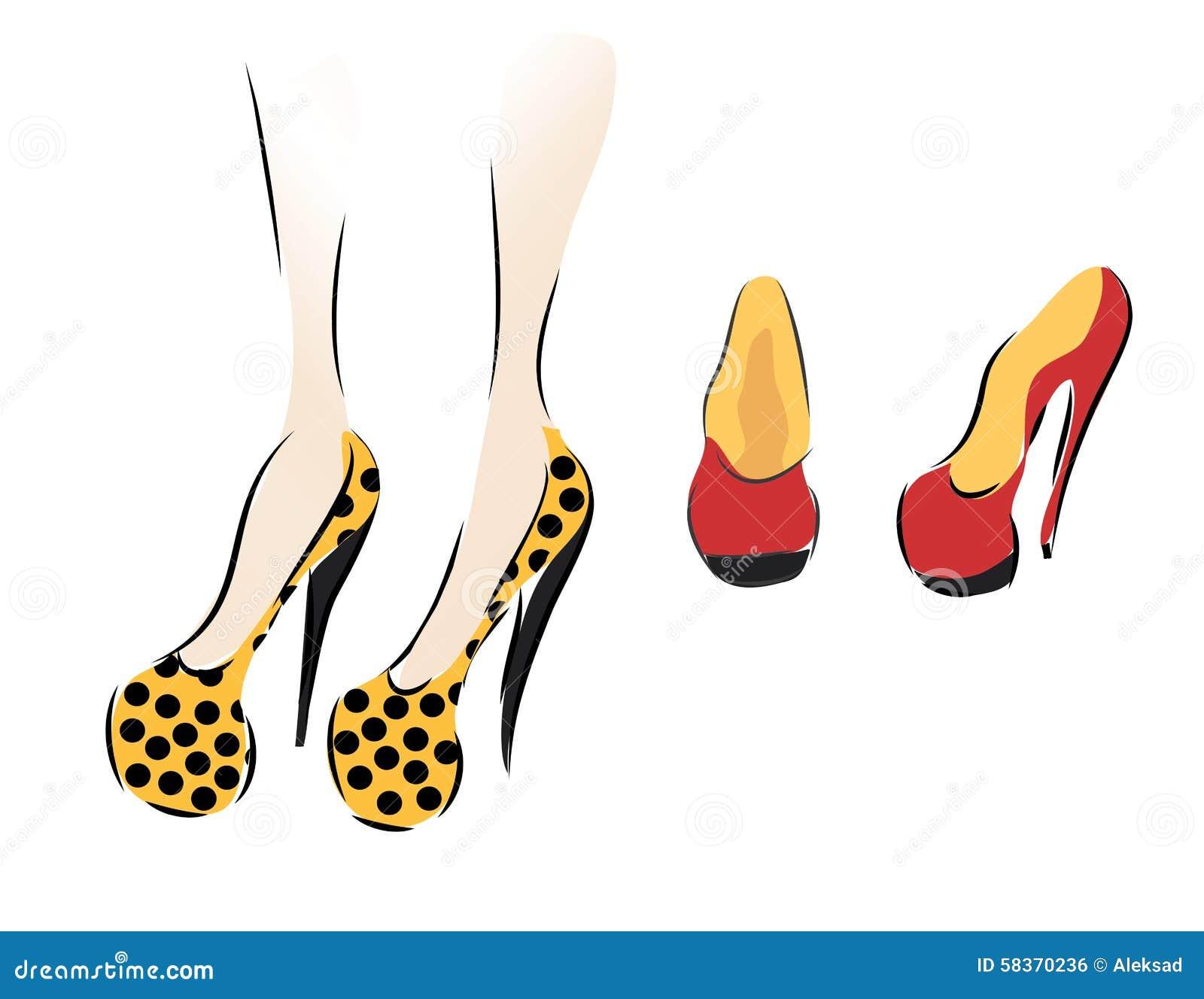 γυναίκα παπουτσιών συλ&lambd