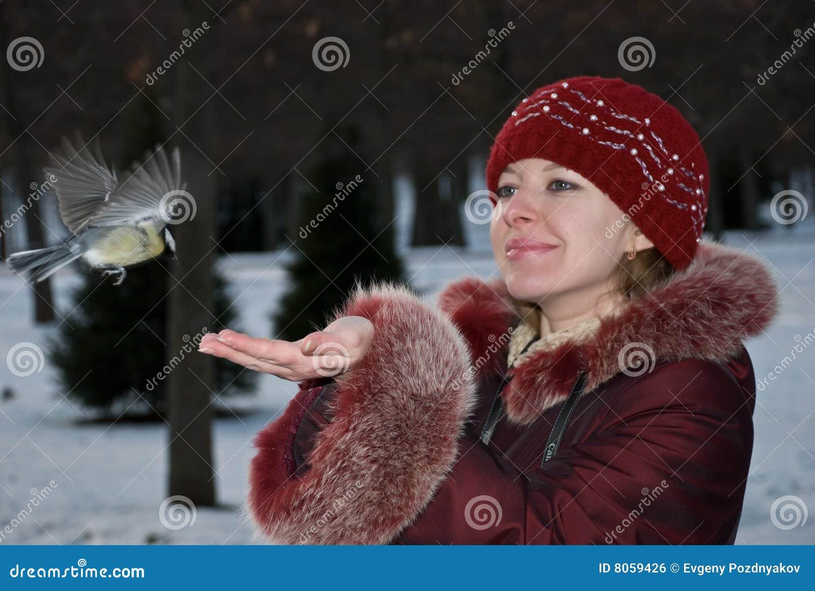 γυναίκα πουλιών