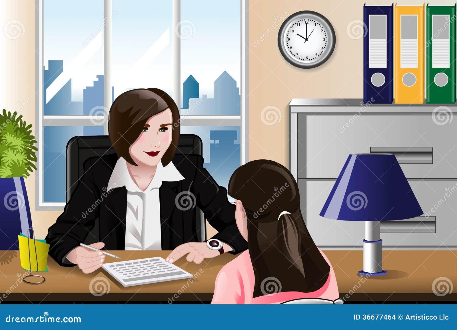 Γυναίκα που έχει μια συνέντευξη εργασίας