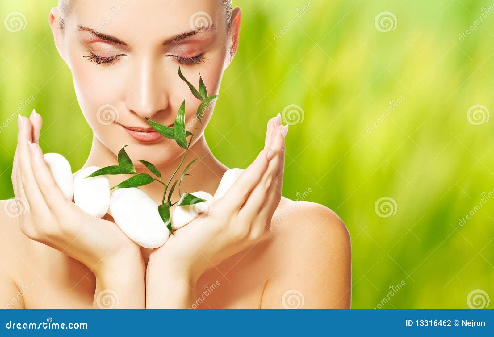 γυναίκα φυτών εκμετάλλε&u