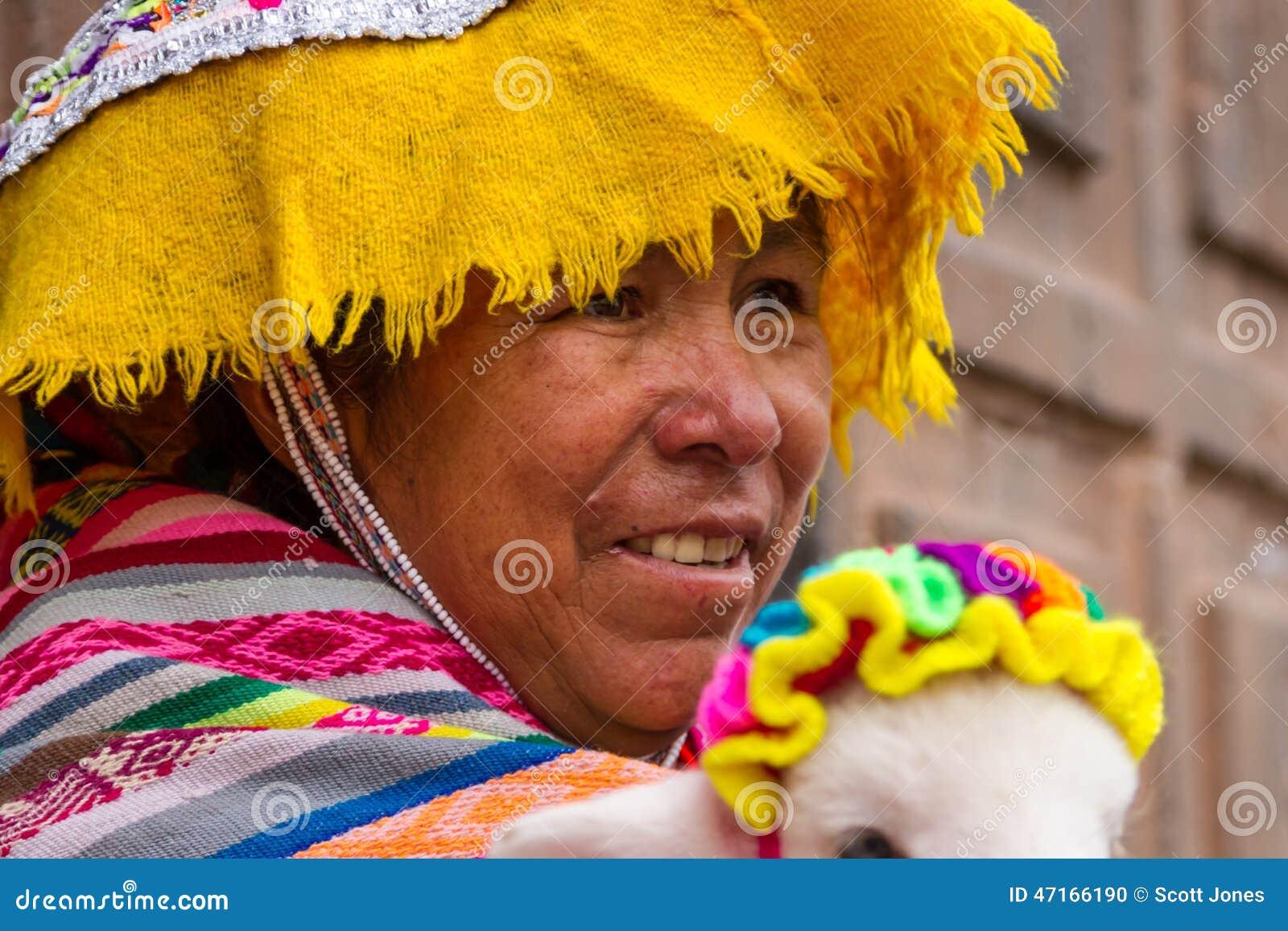 Γυναίκα Inca στο κοστούμι
