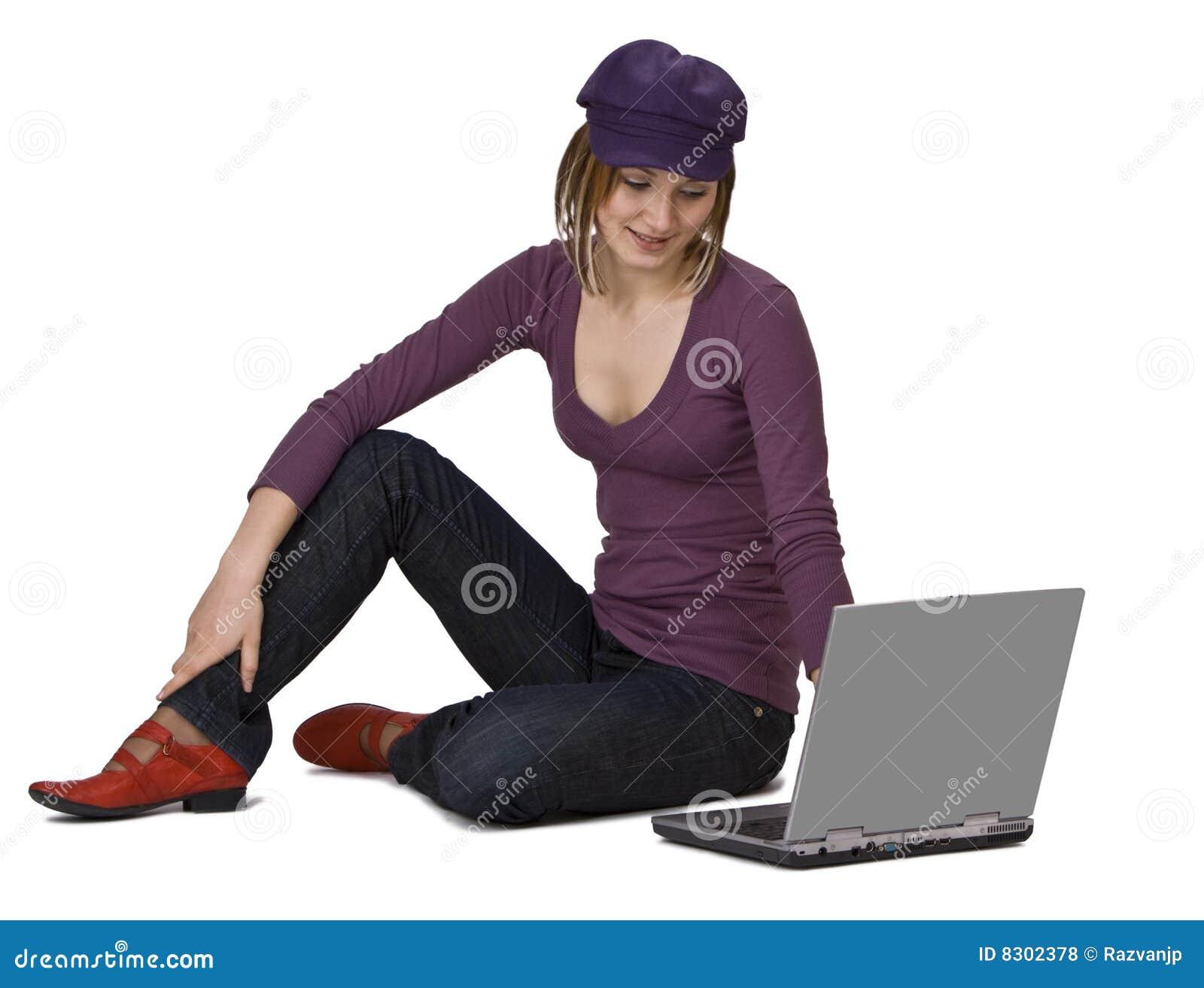 γυναίκα lap-top