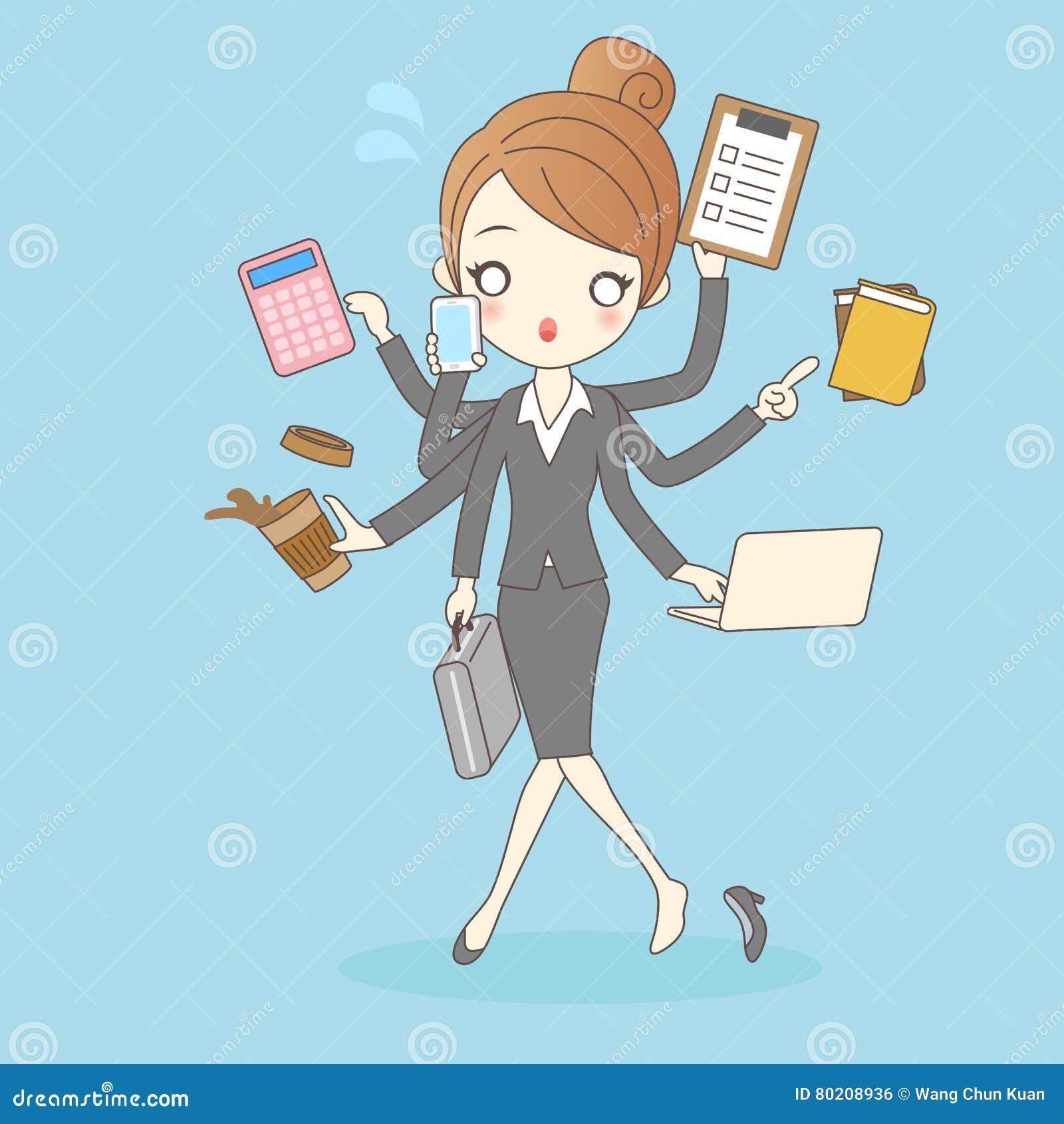 Γυναίκες στην πολυάσχολη επίσης επιχείρηση