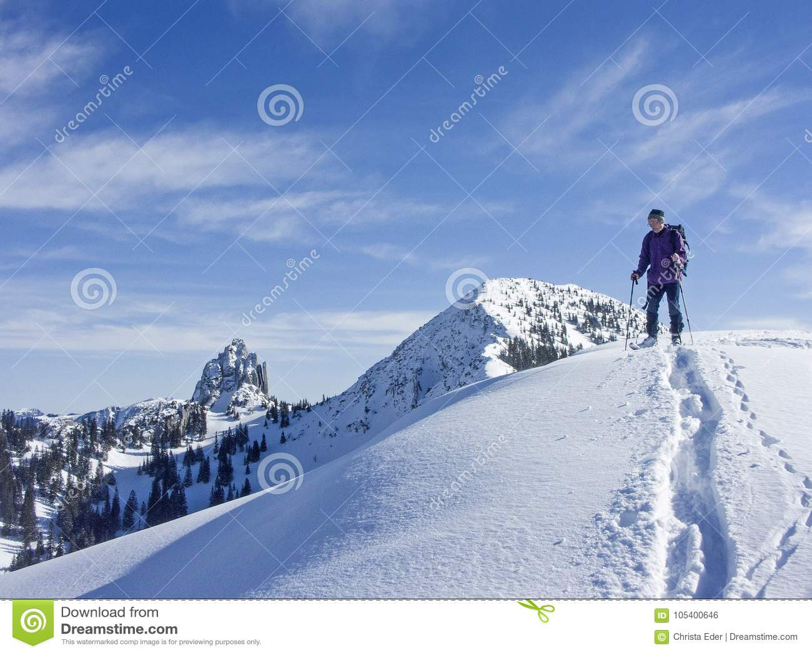 Download Γύρος σκι σε Risserkogel το χειμώνα Στοκ Εικόνες - εικόνα από εμπειρία, μέρος: 105400646
