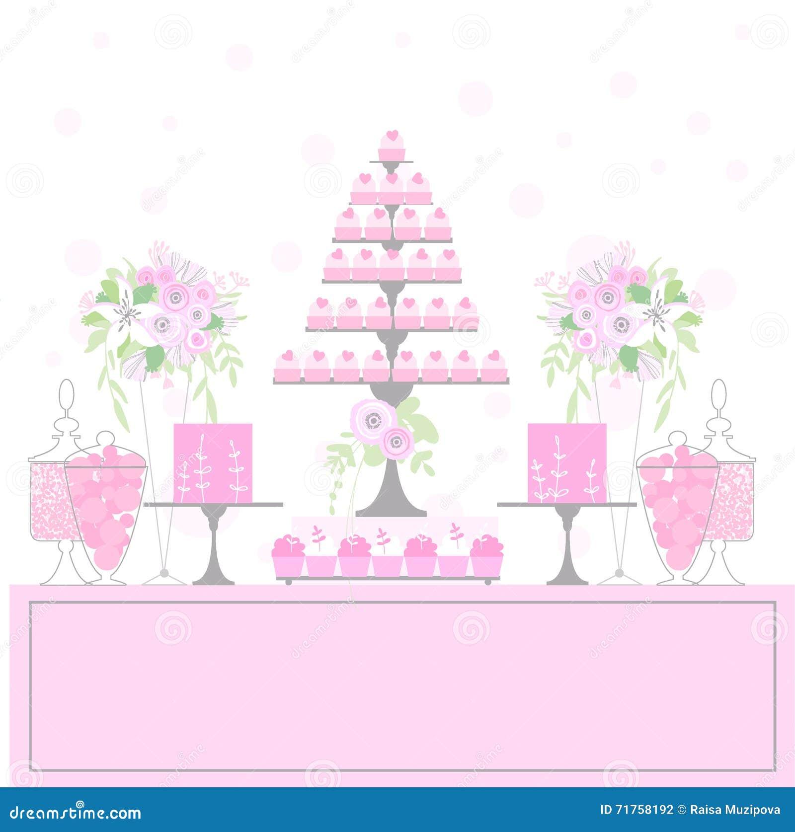 Γλυκός πίνακας με τα cupcakes