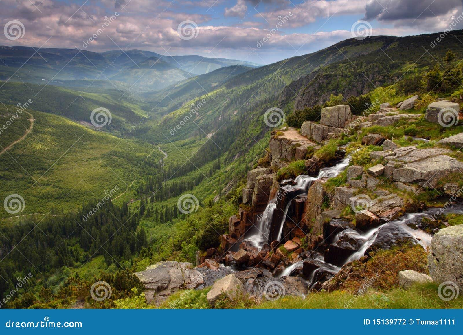 δάση καταρρακτών Elbe krkonose s