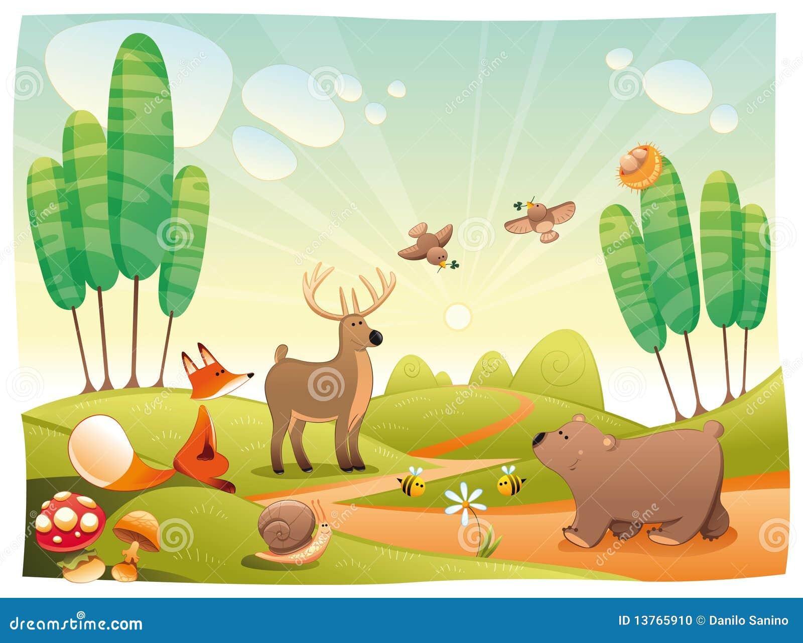 δάσος ζώων