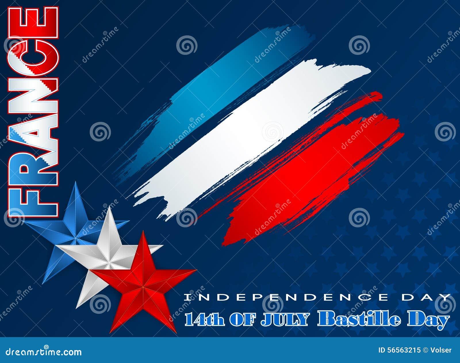 Download Δέκατος τέταρτος εθνικός εορτασμός Ιουλίου της Γαλλίας, ημέρα Bastille, υπόβαθρο Διανυσματική απεικόνιση - εικονογραφία από δόξα, χώρα: 56563215