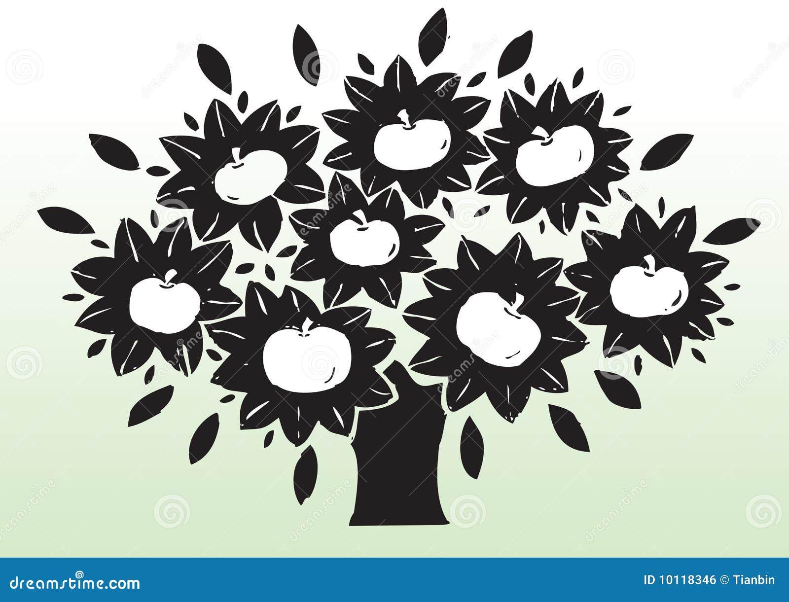 δέντρο σχεδίων μήλων