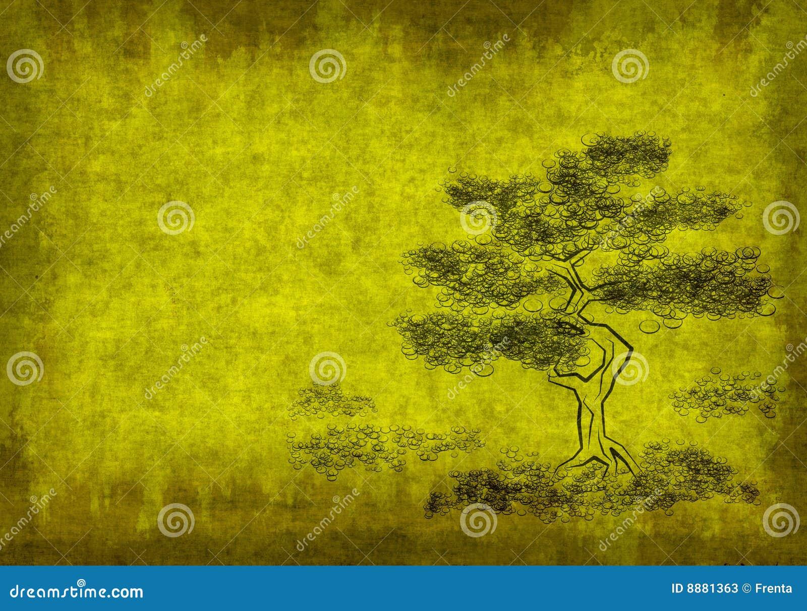 δέντρο φύλλων περγαμηνής α&r