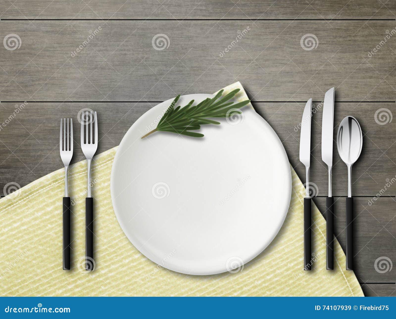 Δίκρανα, κουτάλι, μαχαίρια, πιάτα Πρότυπο ζωή αγροτική ακόμα