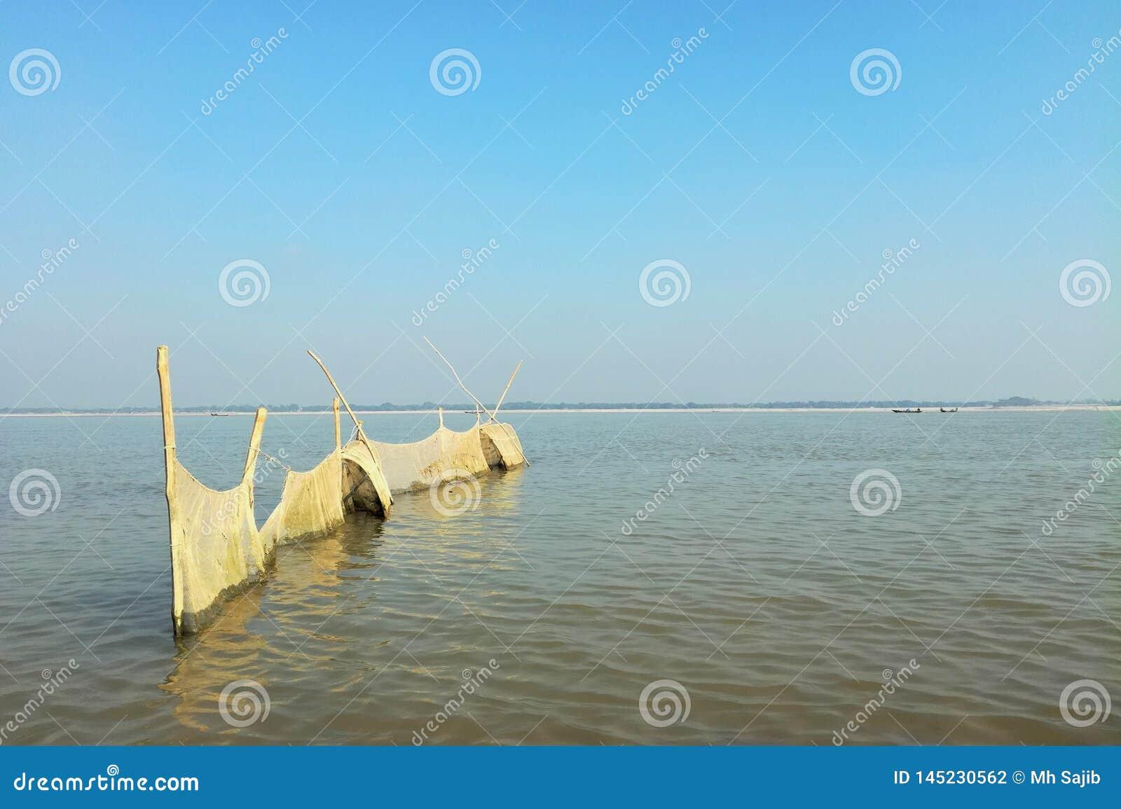 Δίχτυ του ψαρέματος στον ποταμό padma, Μπαγκλαντές