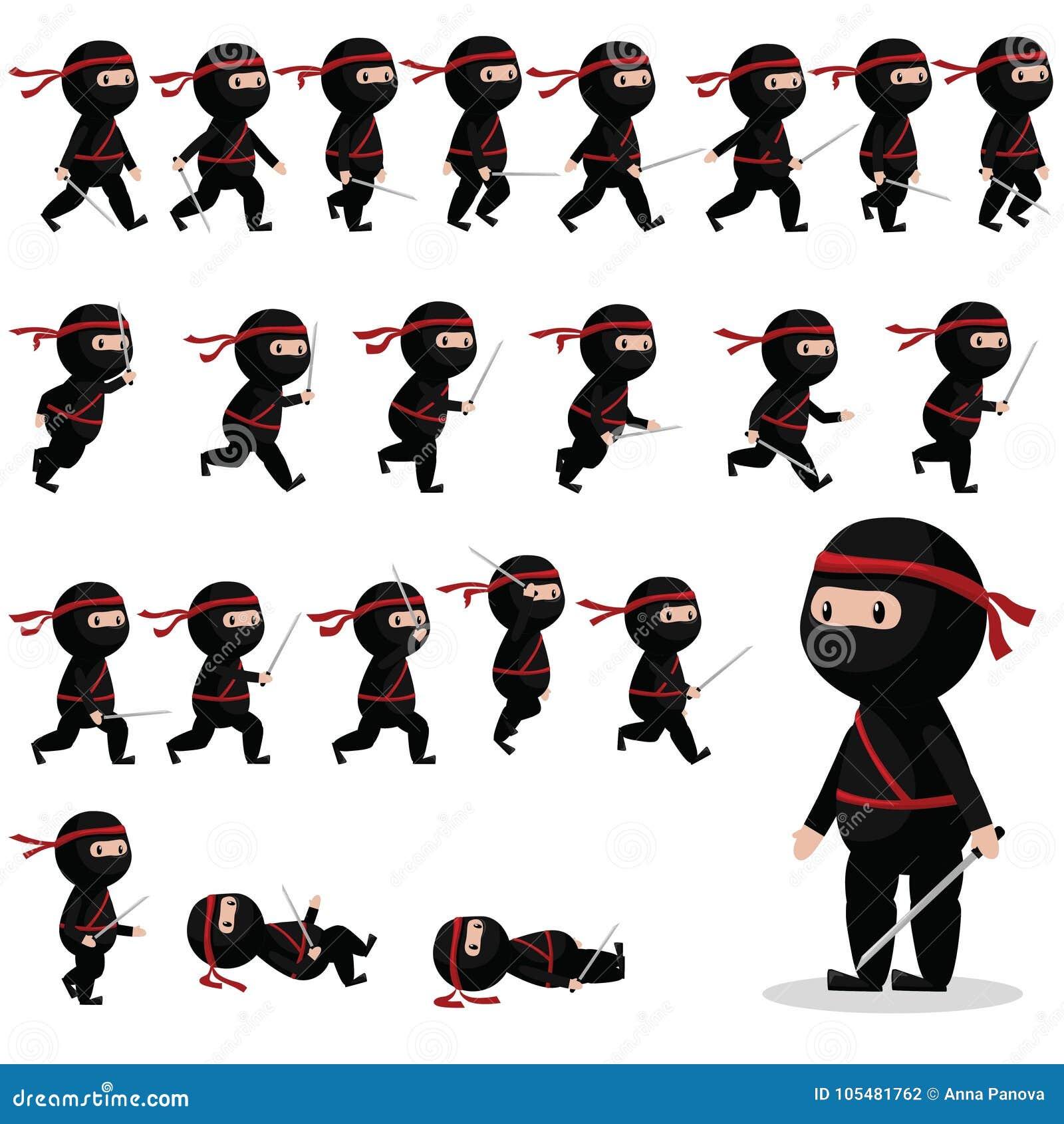 Δαιμόνια χαρακτήρα Ninja για τα παιχνίδια, ζωτικότητα