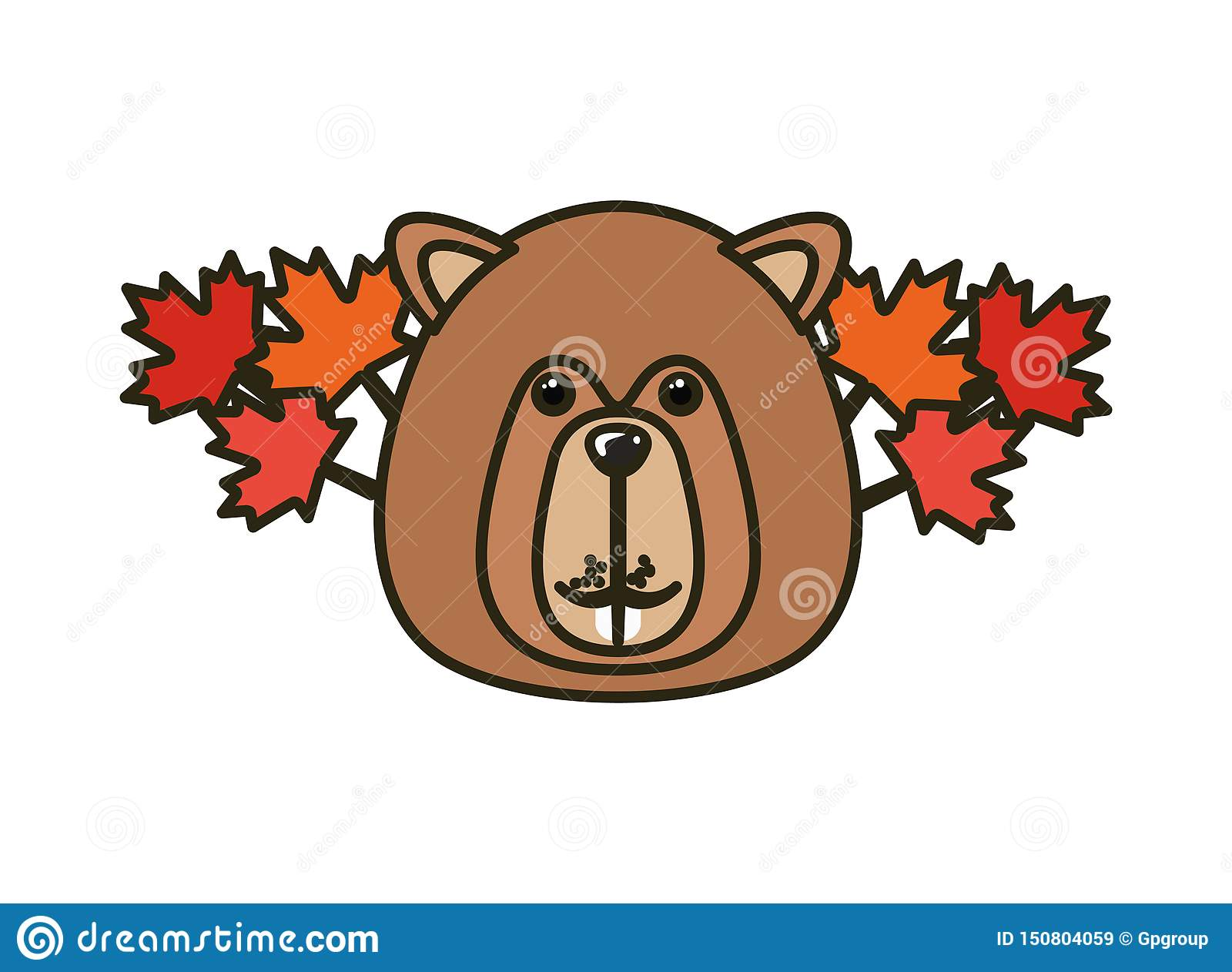Δασικό ζώο καστόρων του σχεδίου του Καναδά