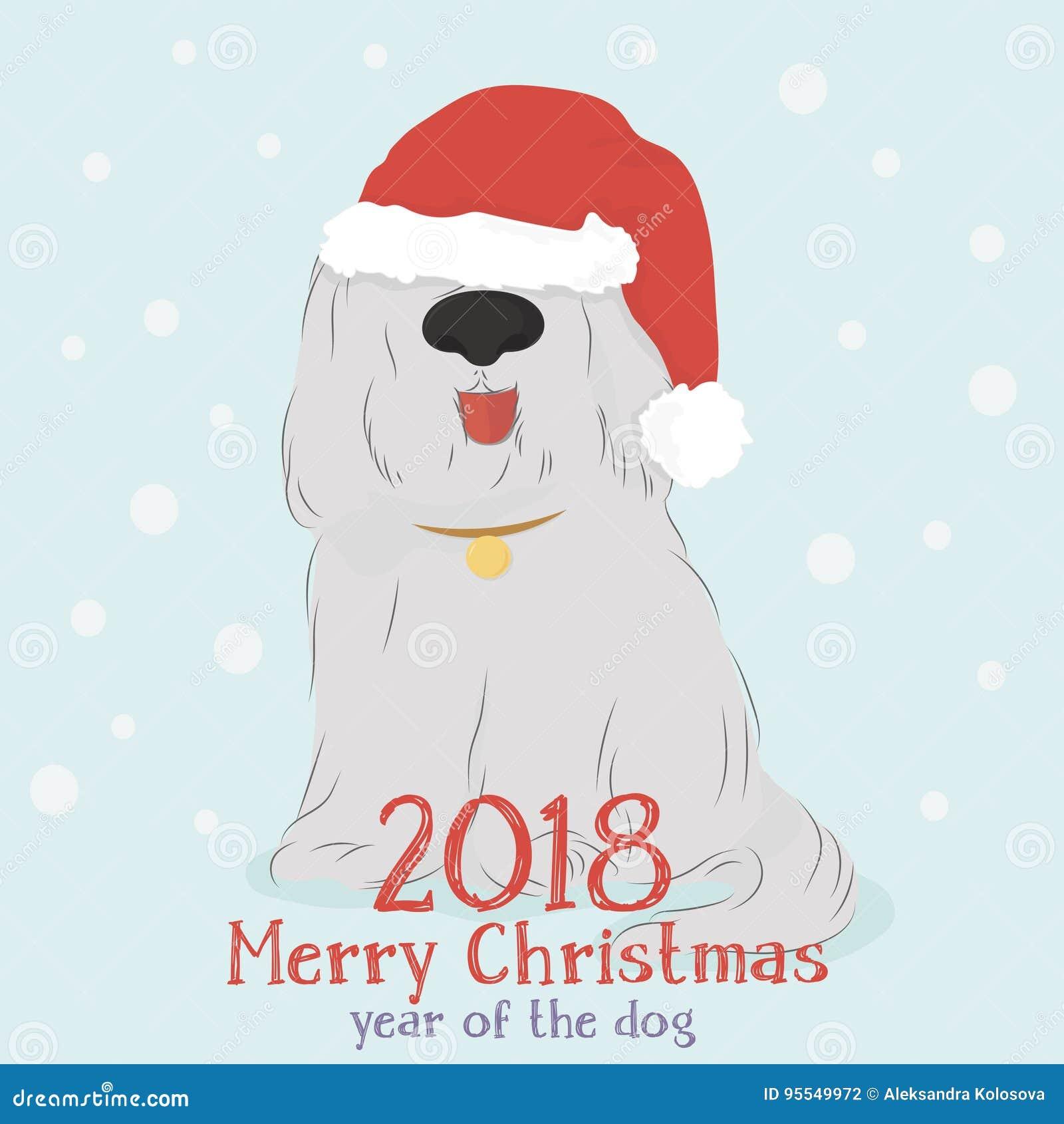 Δασύτριχο σκυλί με τις σφαίρες διακοσμητικών ταράνδων και Χριστουγέννων