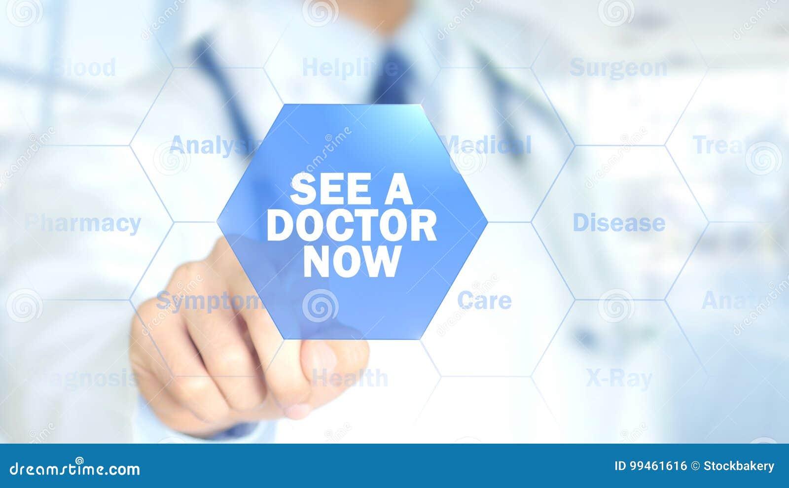 Δείτε έναν γιατρό τώρα, γιατρός που εργάζεται στην ολογραφική διεπαφή, γραφική παράσταση κινήσεων