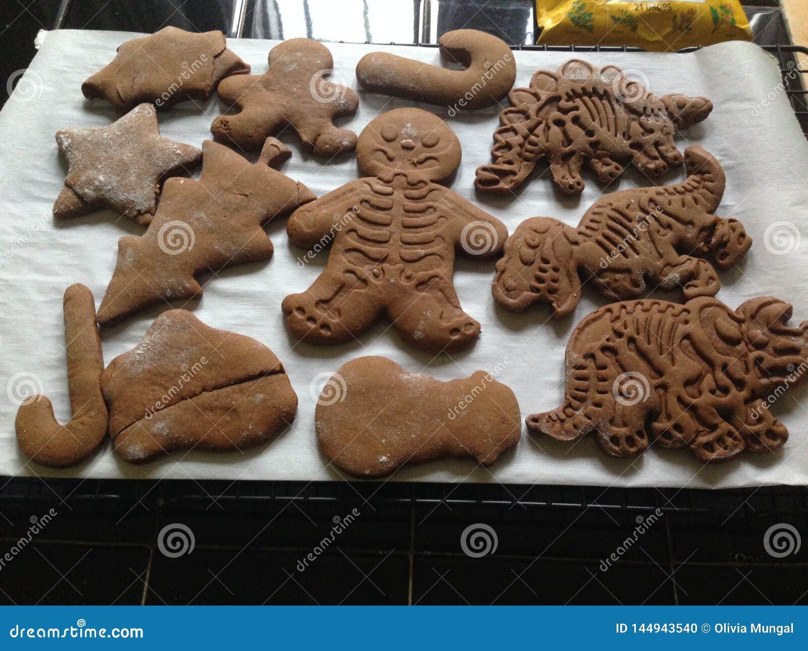 Μπισκότα ψωμιού πιπεροριζών