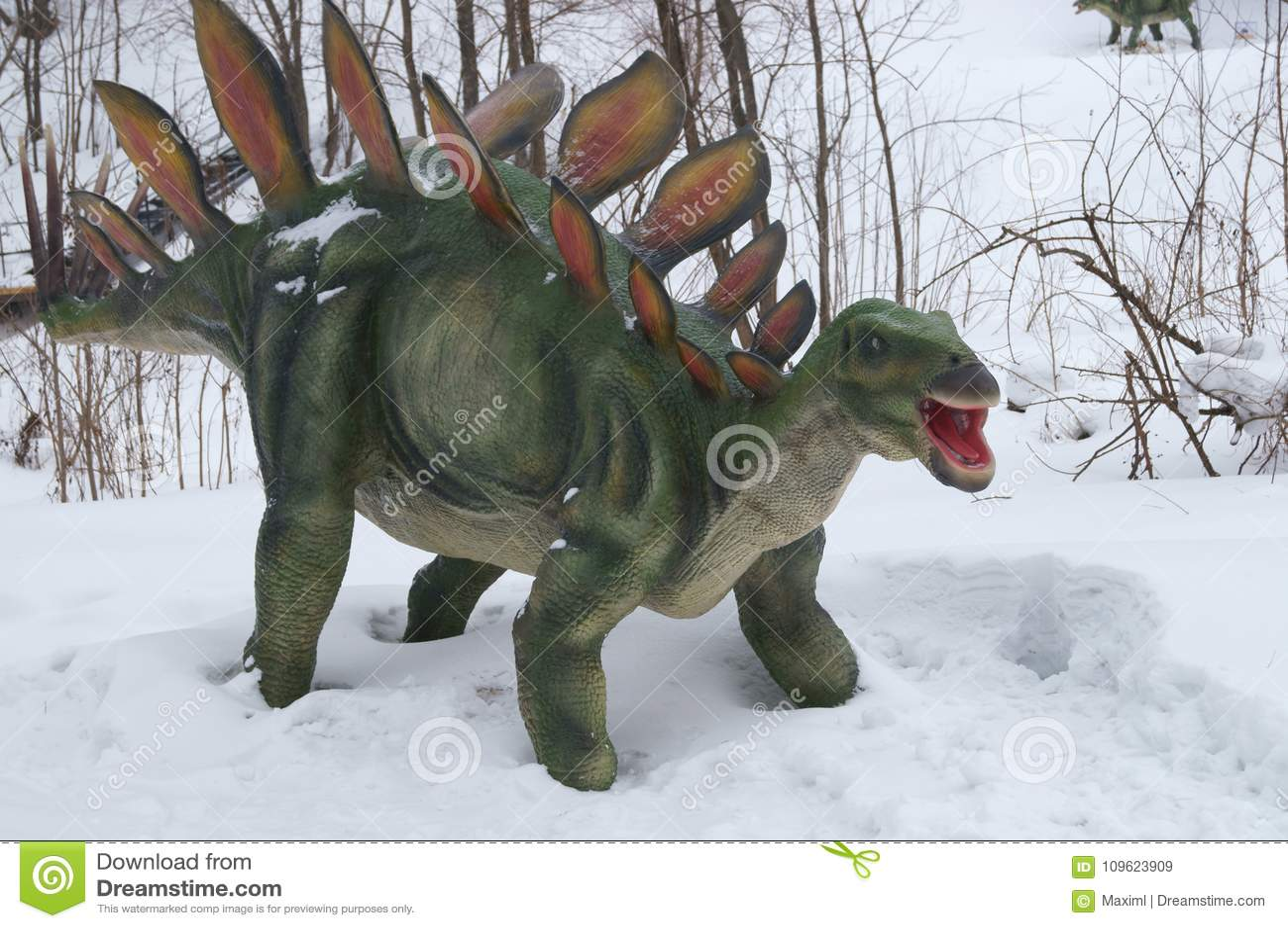 Δεινόσαυρος στο χιόνι