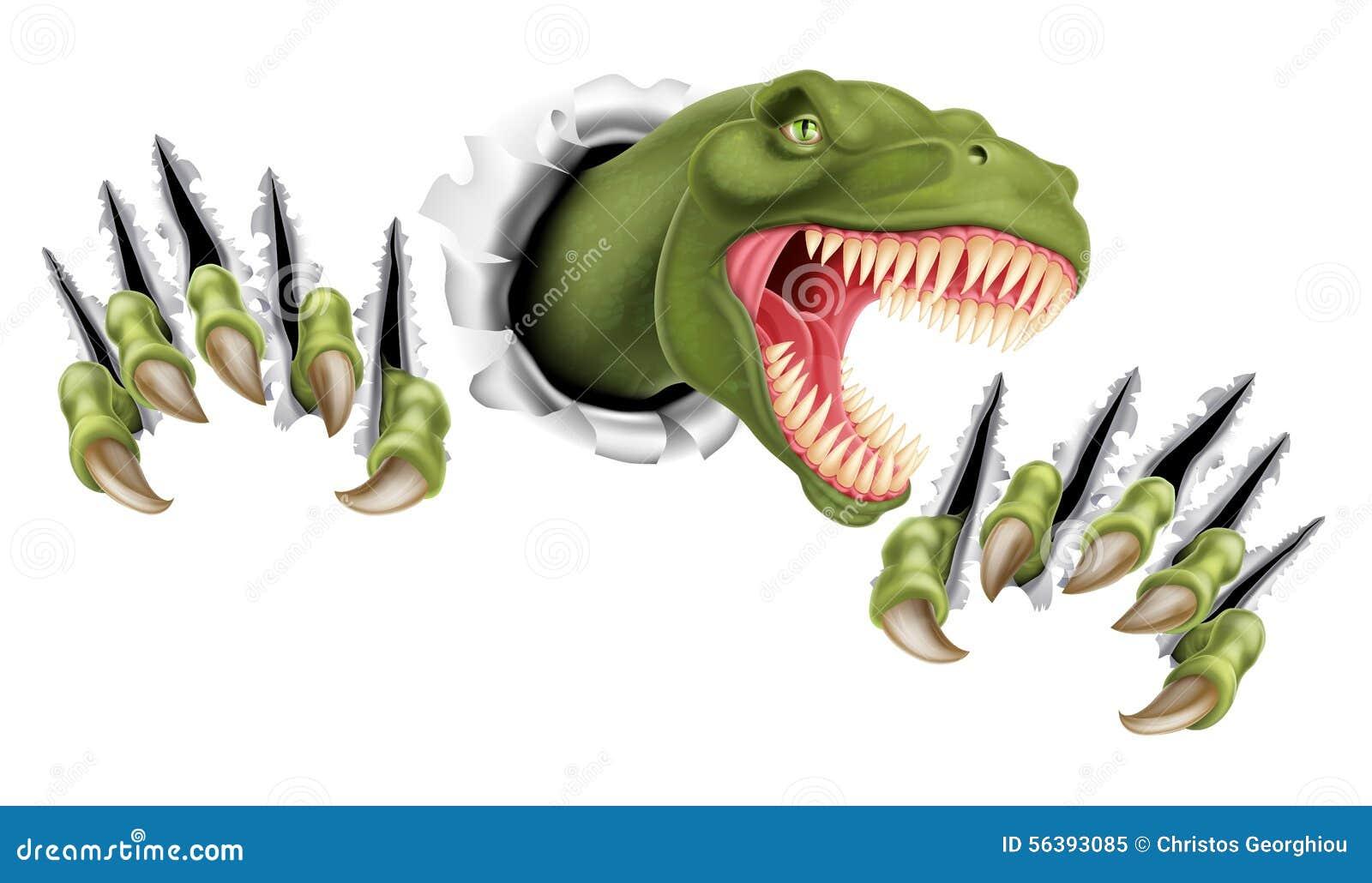 Δεινόσαυρος Τ Rex που σπάζει κατευθείαν