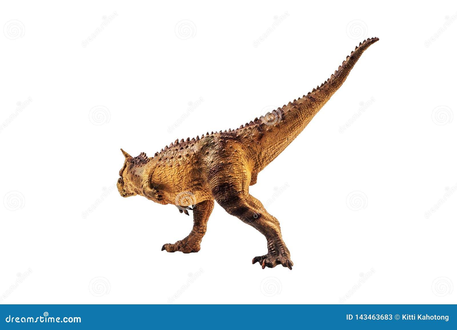 Δεινόσαυρος Carnotaurus στο άσπρο υπόβαθρο