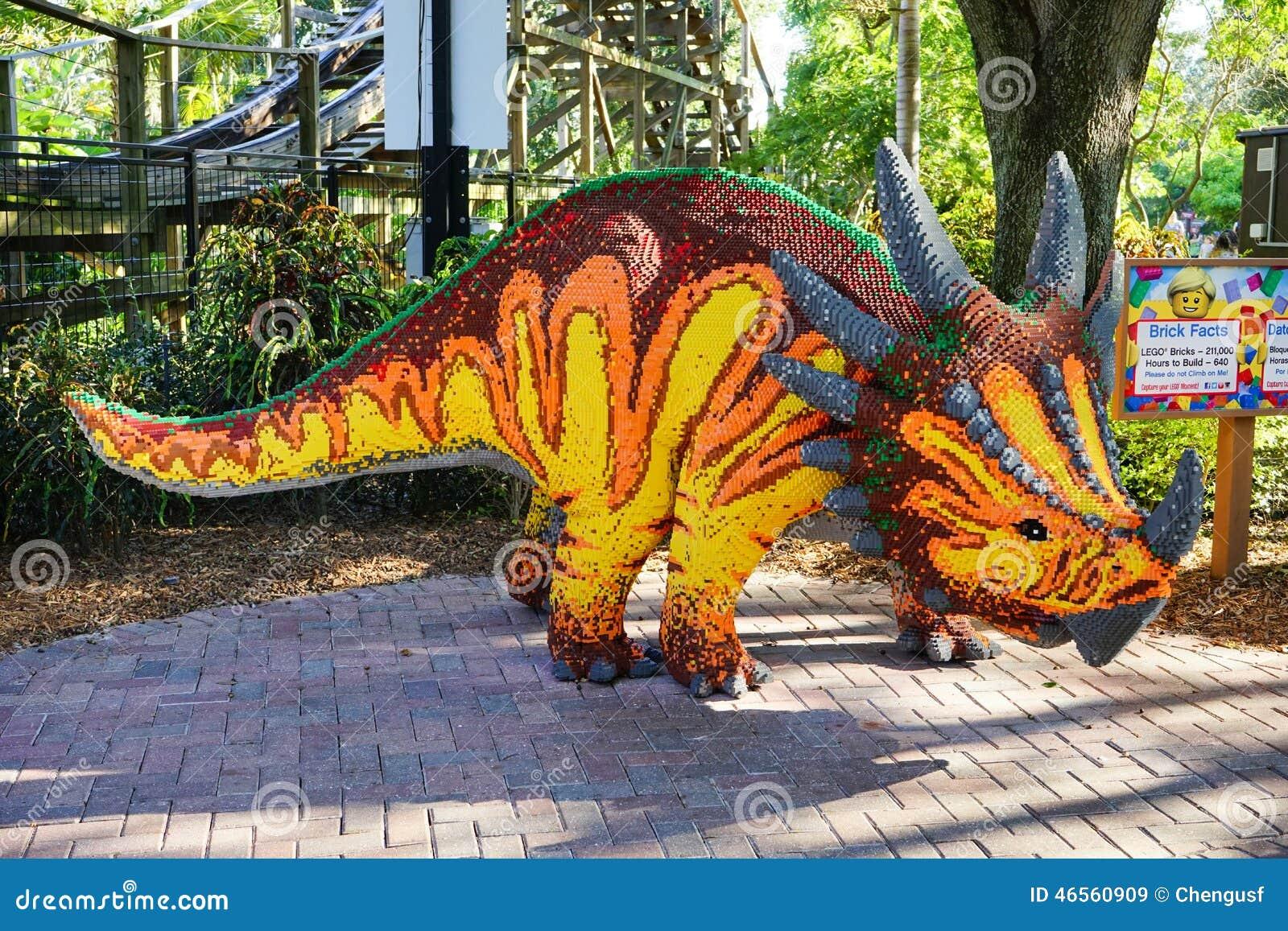 Δεινόσαυρος Lego σε Legoland Φλώριδα