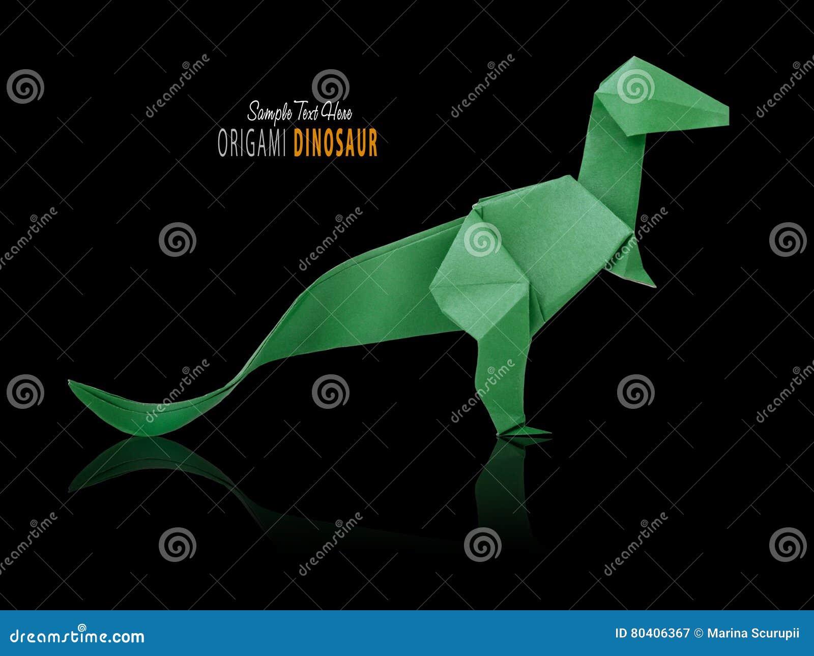 Δεινόσαυρος Origami στο Μαύρο