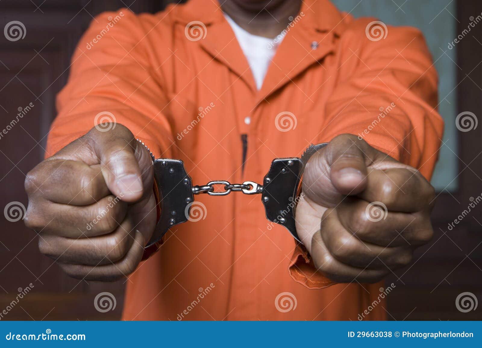 Δεμένος με χειροπέδες εγκληματίας