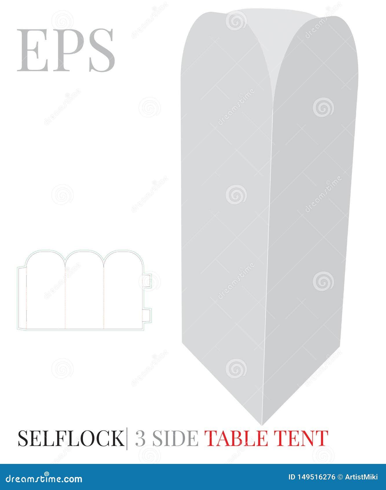 Δευτερεύον πρότυπο επιτραπέζιων τρία σκηνών, διάνυσμα με τις τεμαχισμένες/γραμμές περικοπών λέιζερ Άσπρη, σαφής, κενή, απομονωμέν