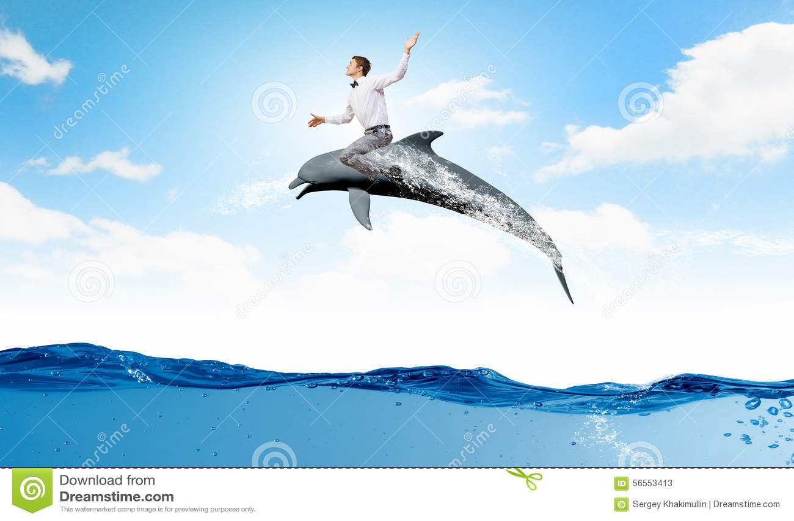 Download Δελφίνι γύρου ατόμων στοκ εικόνα. εικόνα από ανθρώπινος - 56553413