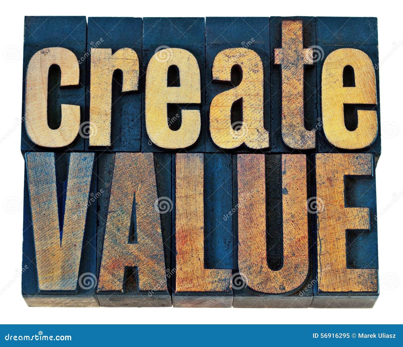 Δημιουργήστε την ξύλινη τυπογραφία αξίας