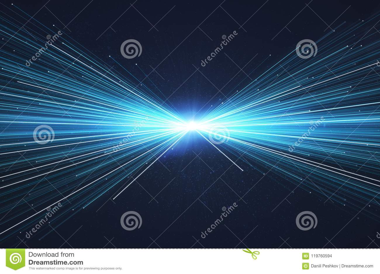 Δημιουργική μπλε ταπετσαρία ακτίνων