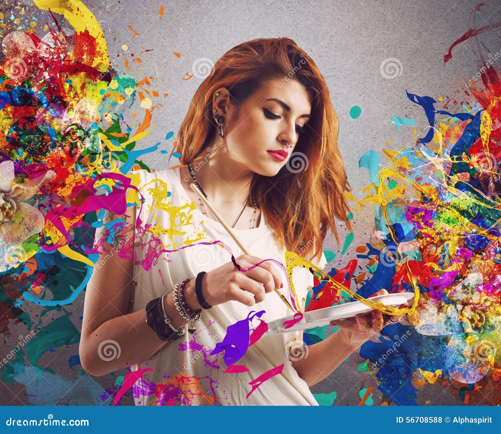 Δημιουργικός ζωγράφος κοριτσιών