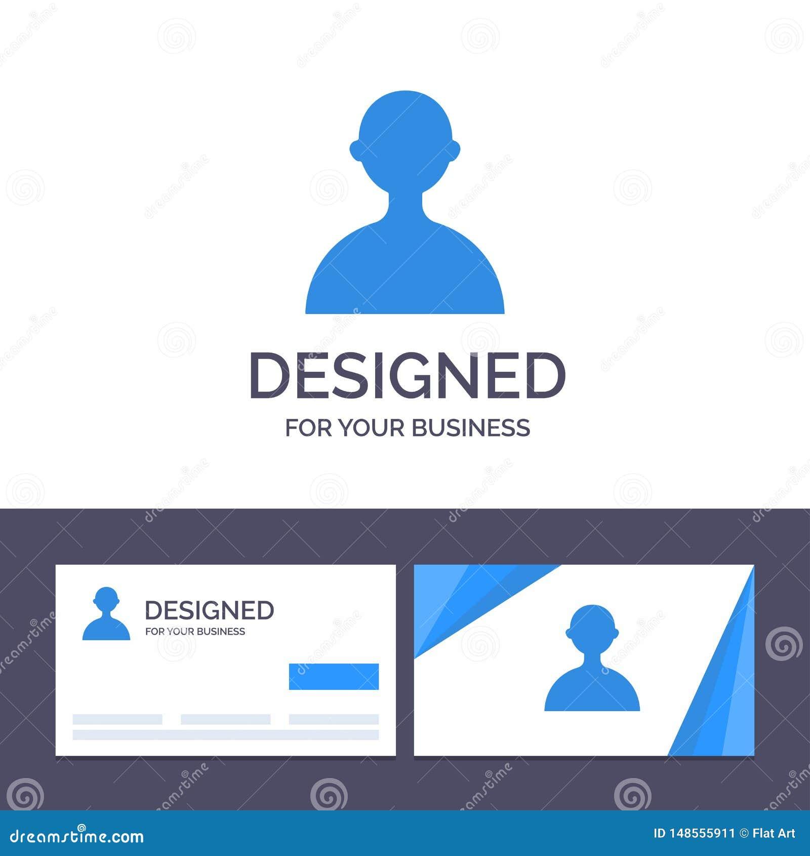 Δημιουργικό είδωλο προτύπων επαγγελματικών καρτών και λογότυπων, χρήστης, βασική διανυσματική απεικόνιση