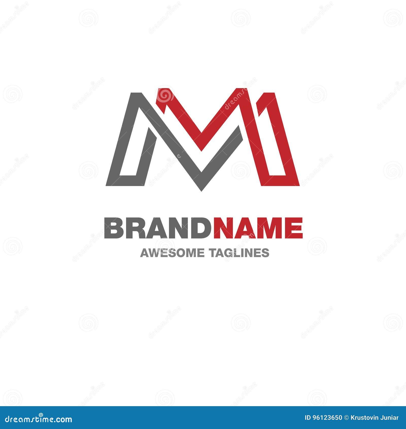 Δημιουργικό λογότυπο γραμμάτων Μ