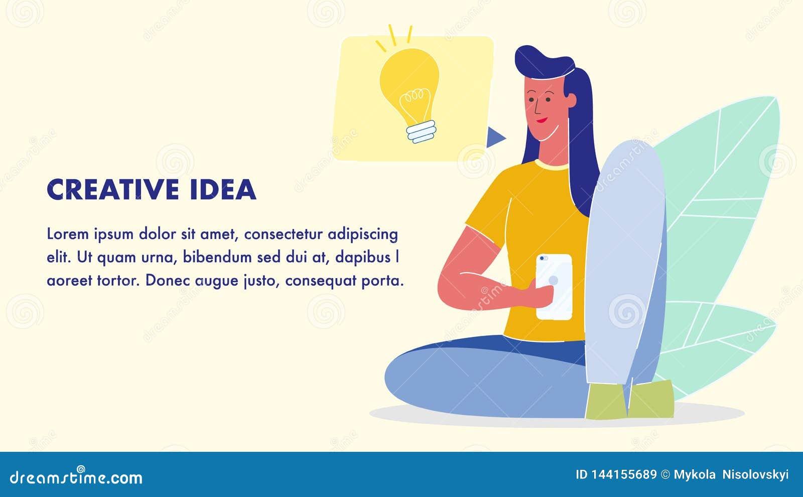 Δημιουργικό πρότυπο εμβλημάτων Ιστού ιδέας επίπεδο διανυσματικό