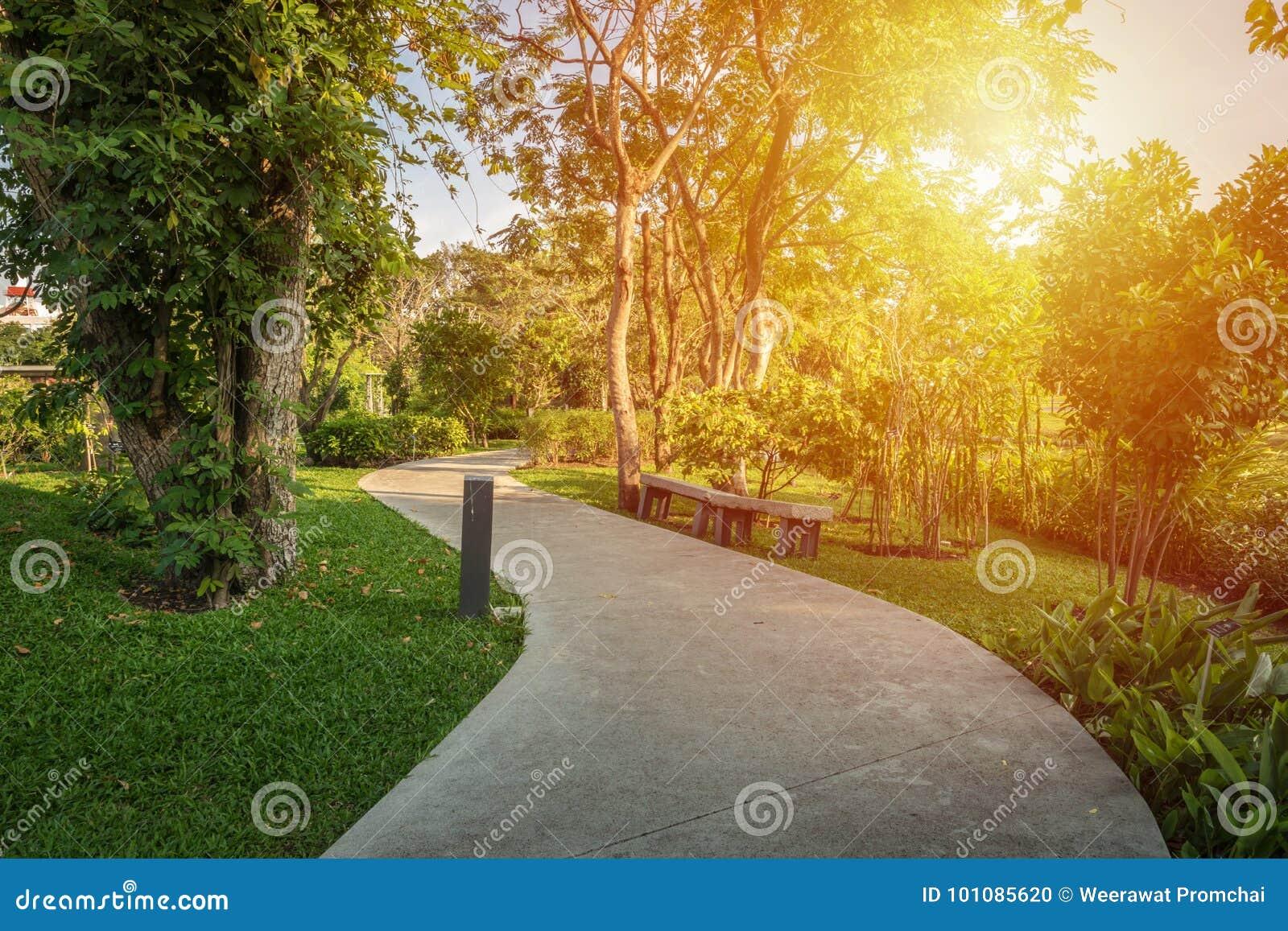 Διάβαση πεζών στο πάρκο