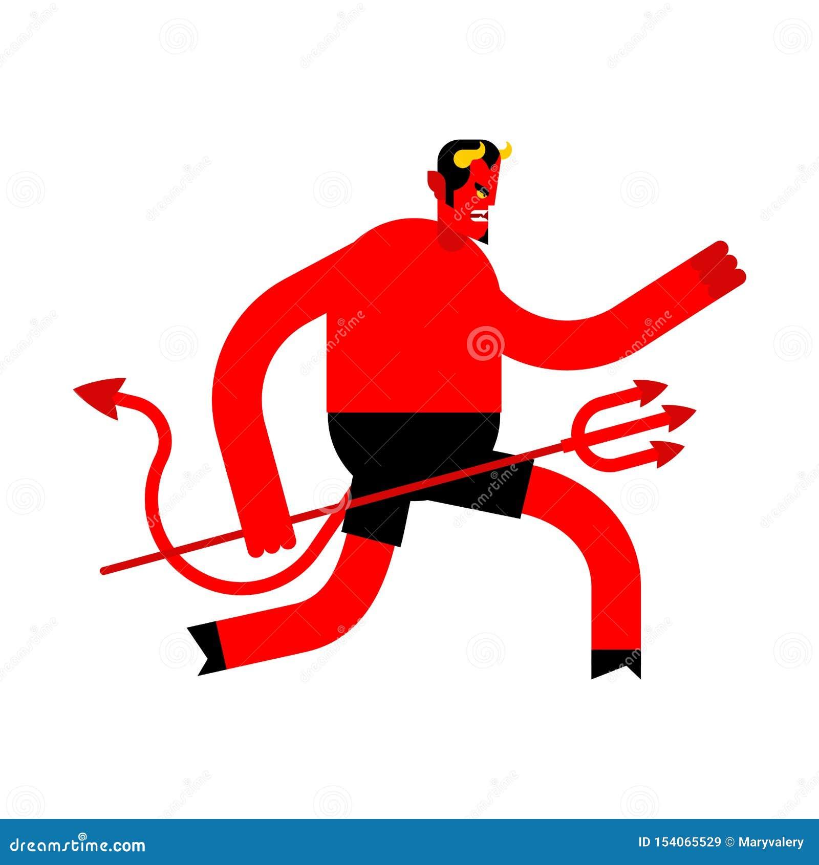 Διάβολος τρεξίματος που απομονώνεται διαφυγή Satan δαίμονας Lucifer μπουλονιών