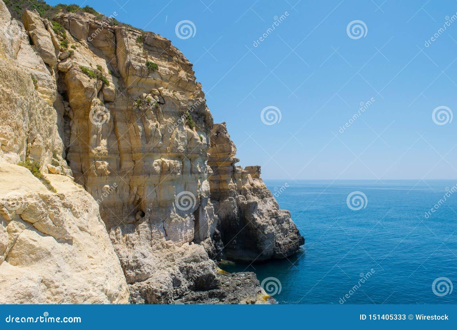 Διάβρωση απότομων βράχων θάλασσας και σχηματισμός σωρών - Rdum tal-Mara