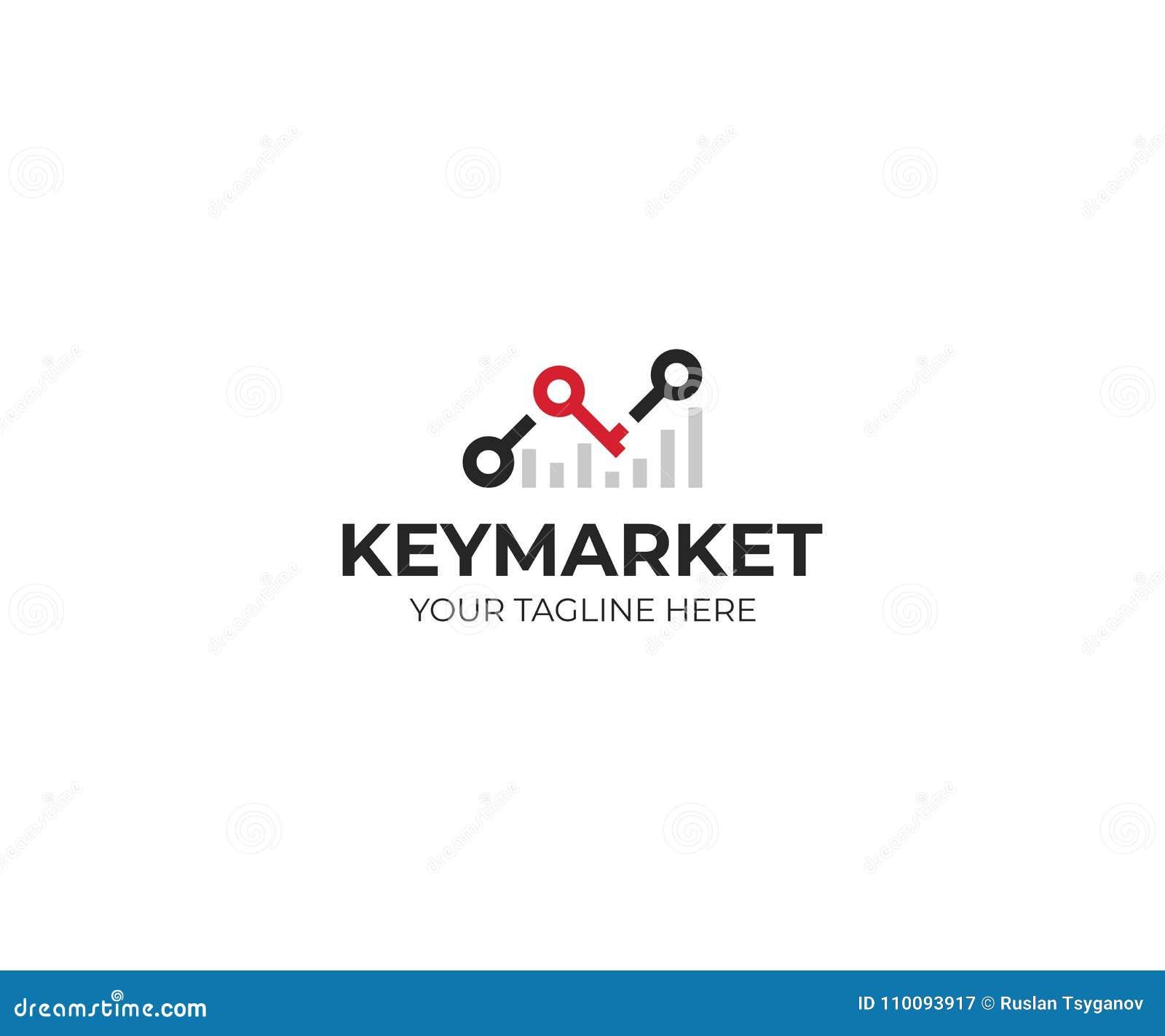 Διάγραμμα stats και βασικό πρότυπο λογότυπων Διανυσματικό σχέδιο επιτυχίας αγοράς