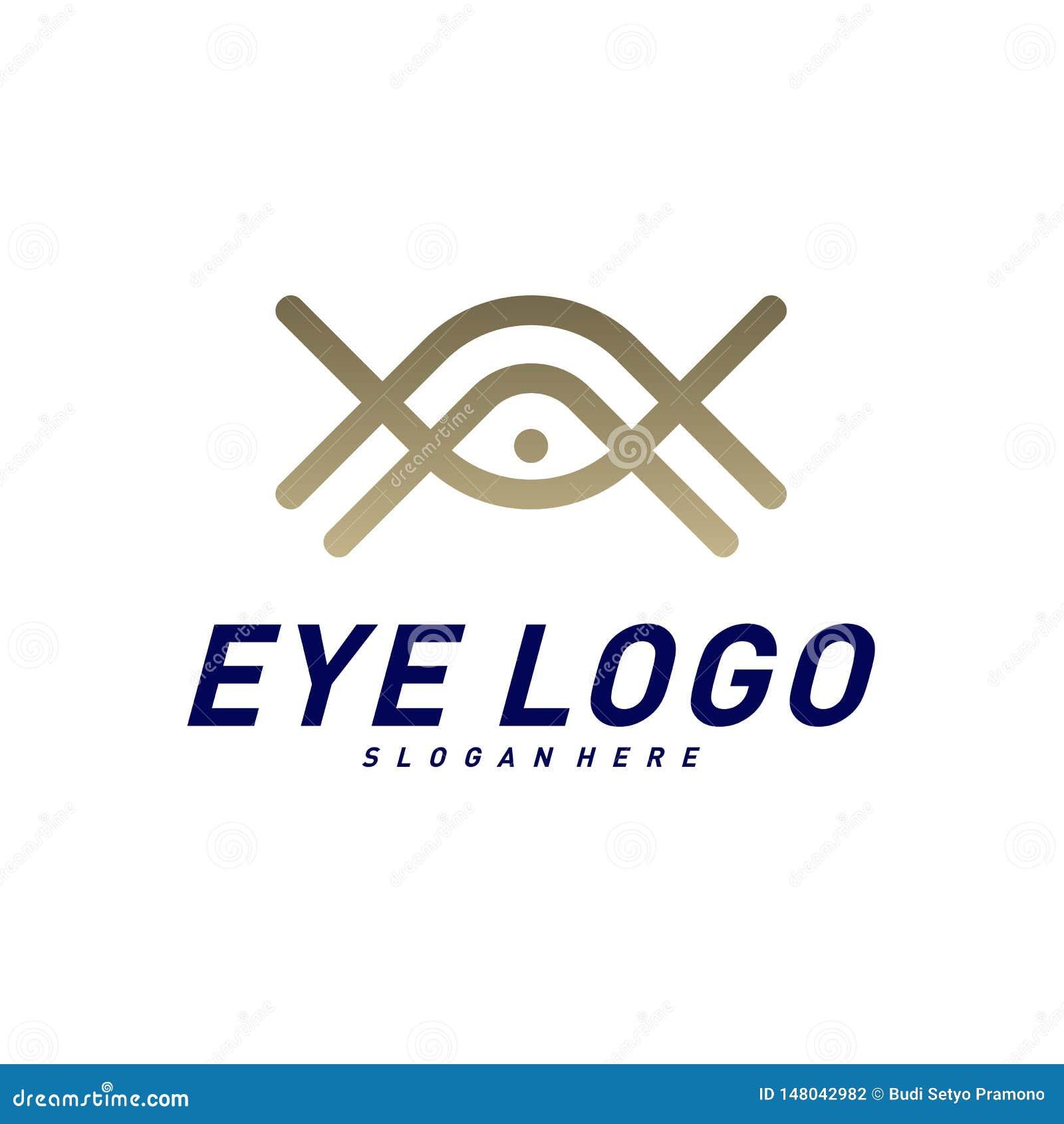 Διάνυσμα έννοιας σχεδίου λογότυπων ματιών, πρότυπο λογότυπων ματιών, σύμβολο εικονιδίων
