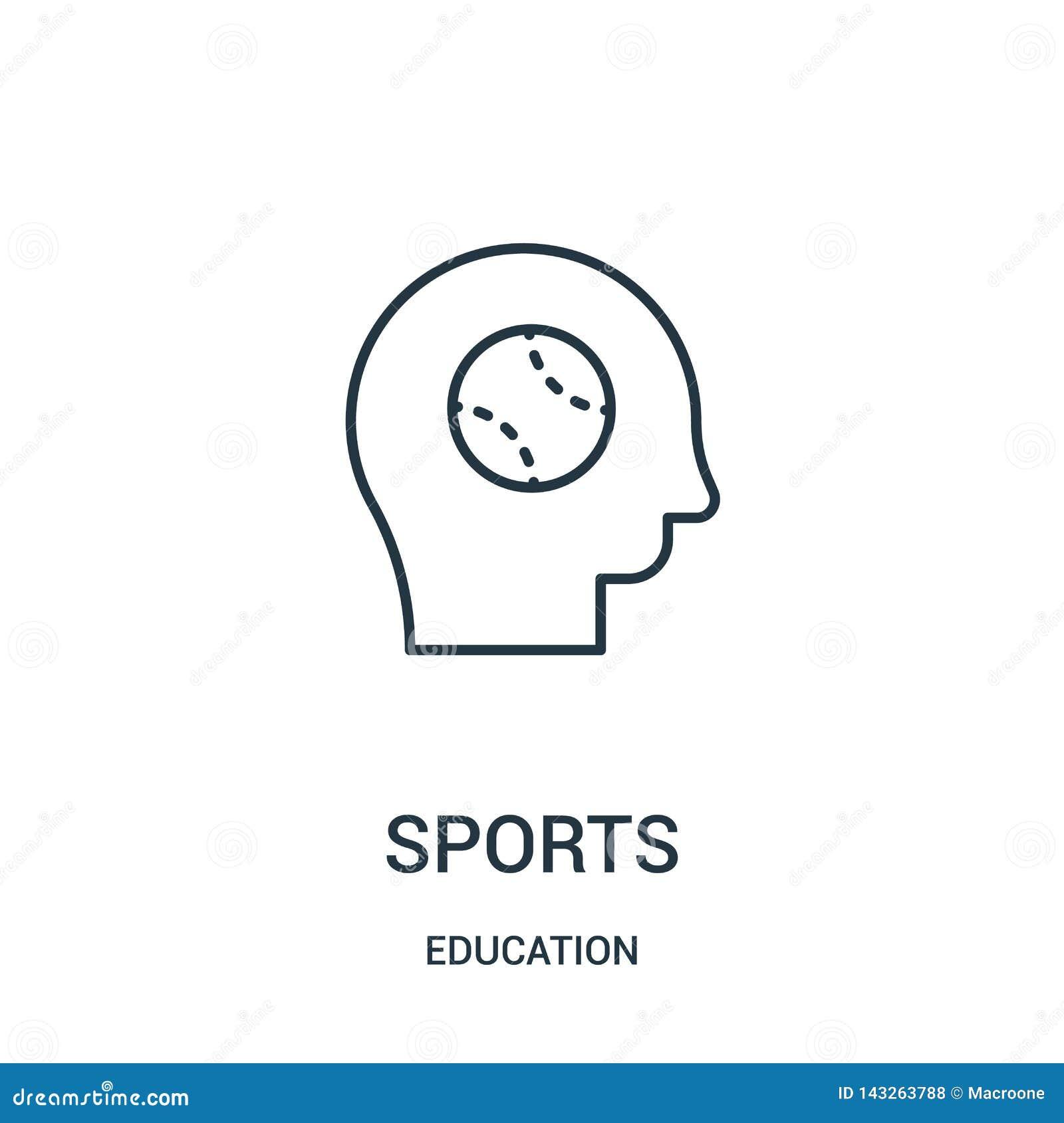 διάνυσμα αθλητικών εικονιδίων από τη συλλογή εκπαίδευσης Λεπτή διανυσματική απεικόνιση εικονιδίων αθλητικών περιλήψεων γραμμών