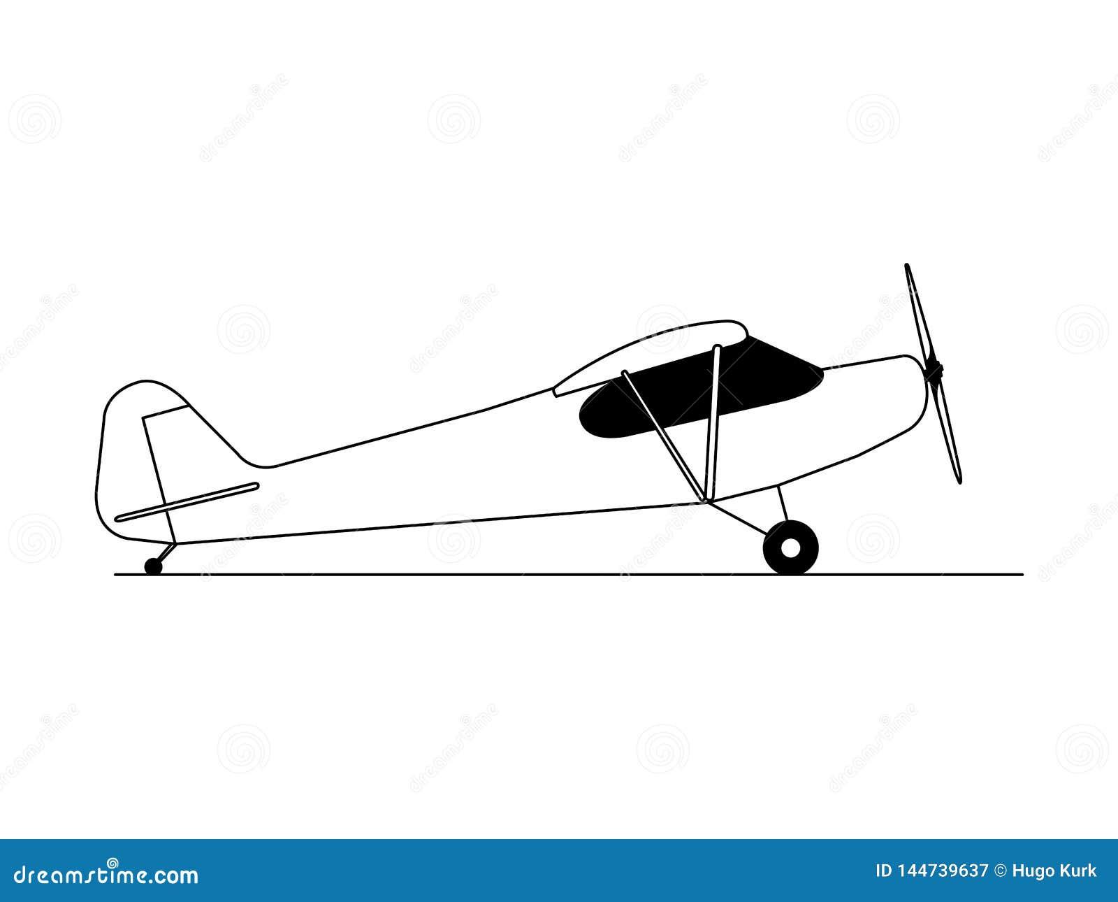 Διάνυσμα απεικόνισης πλάγιας όψης αεροπλάνων χόμπι