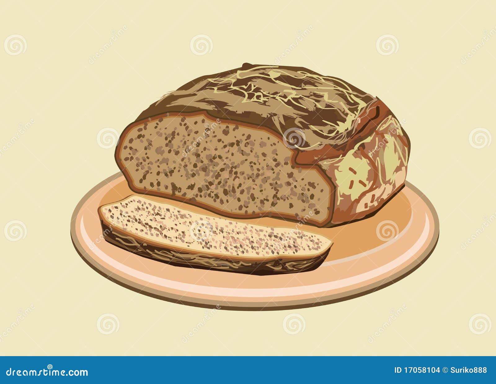 διάνυσμα απεικόνισης ψωμ&io