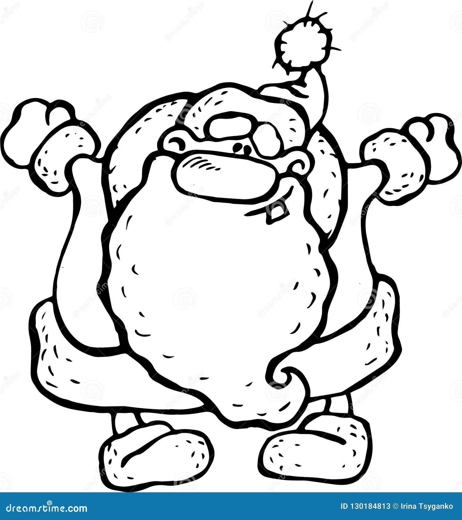 Διάνυσμα, απεικόνιση, Άγιος Βασίλης, γραπτή εικόνα, χαρά, αγκάλιασμα, χαμόγελο, νέο έτος διακοπών