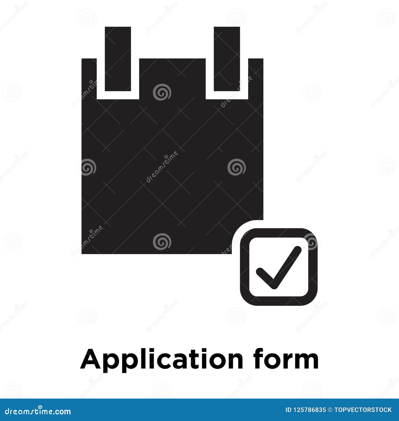 Διάνυσμα εικονιδίων αίτησης υποψηφιότητας που απομονώνεται στο άσπρο υπόβαθρο, λογότυπο