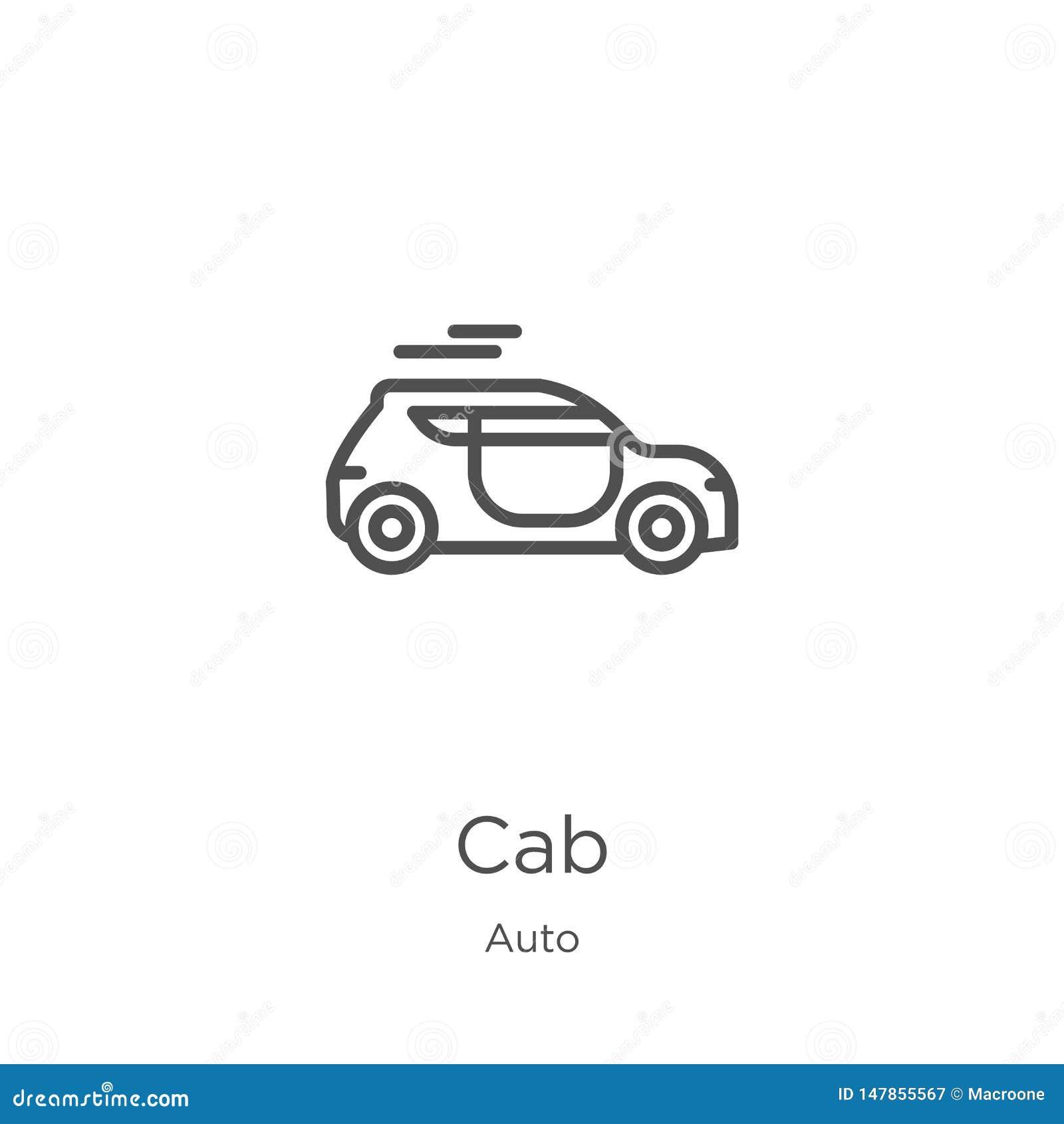 διάνυσμα εικονιδίων αμαξιών από την αυτόματη συλλογή Λεπτή διανυσματική απεικόνιση εικονιδίων περιλήψεων αμαξιών γραμμών Περίληψη