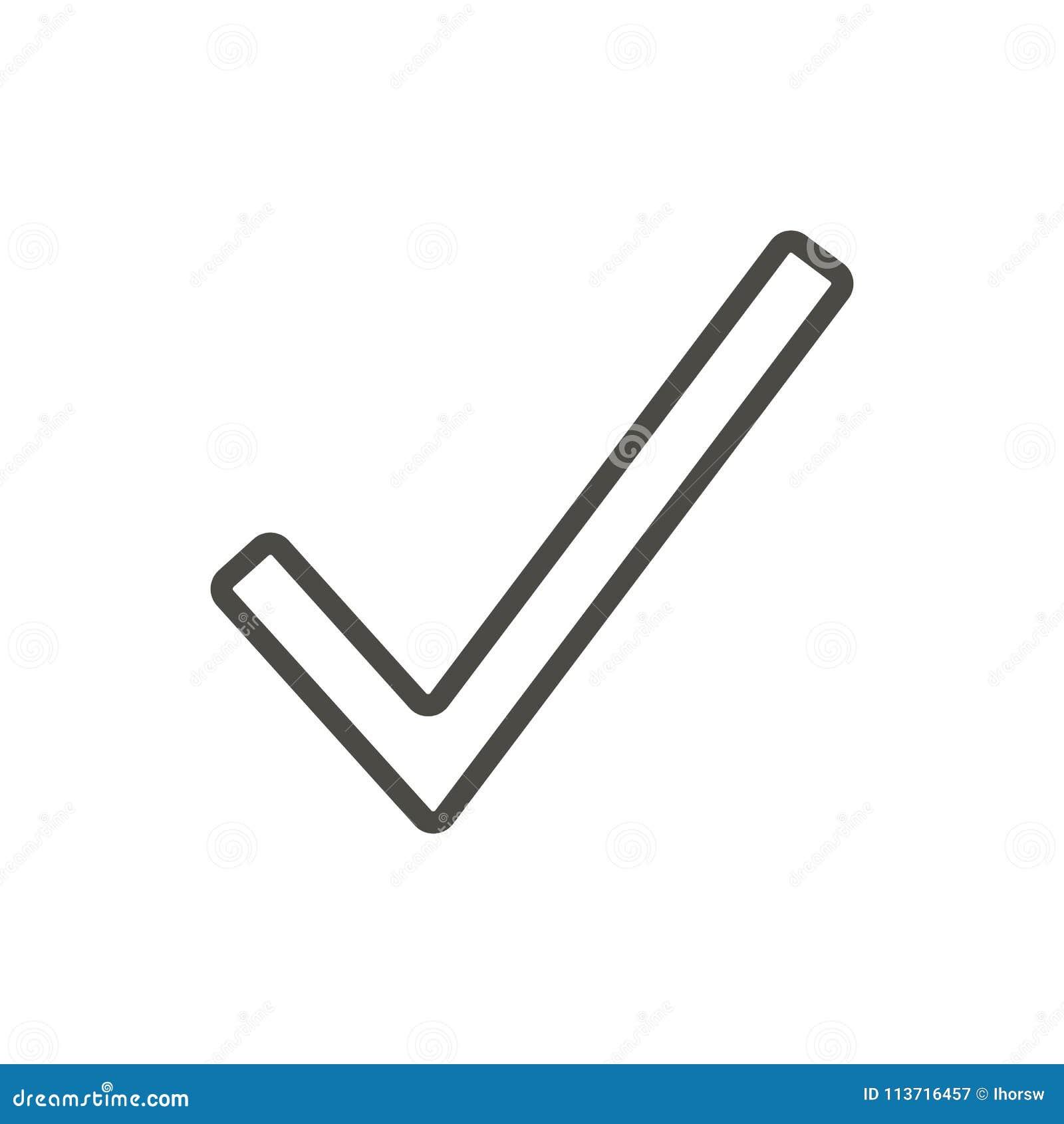 Διάνυσμα εικονιδίων ελέγχου Γίνοντα γραμμή σύμβολο